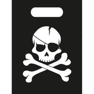6 sacs de fête pirate tête de mort
