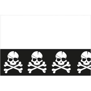 nappe plastique pirate tête de mort