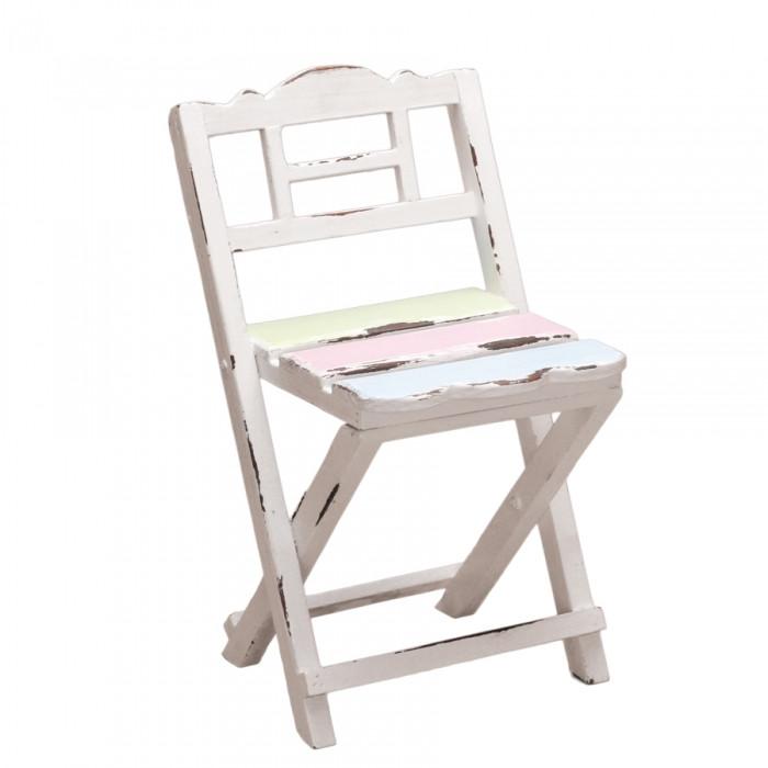 Présentoir à dragées mini chaise assise colorée