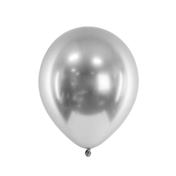 ballon-argent-glossy
