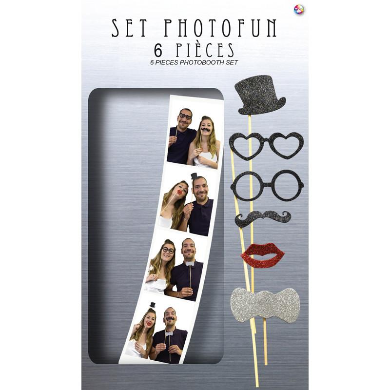 Kit 6 accessoires photobooth for Six accessoires