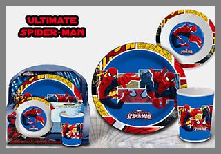 Vaisselle mélamine Spiderman à prix incroyable