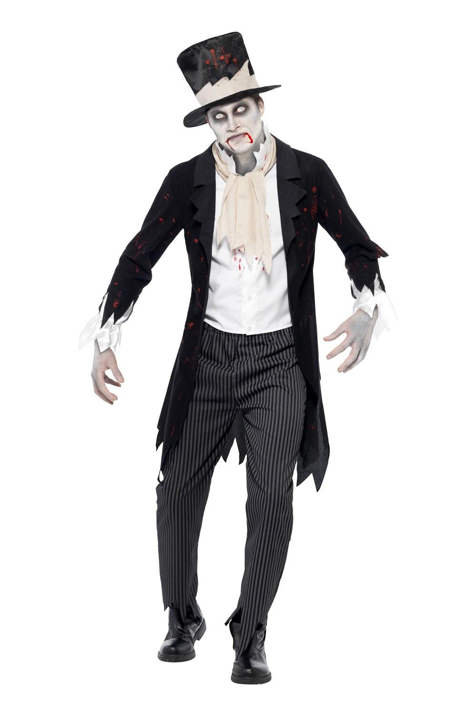 Déguisement homme zombie marié de la mort
