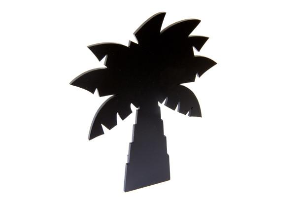 Porte-menu ardoise palmier de 15 x 18 cm