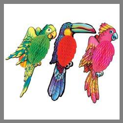 Décoration perroquet en papier-thème Hawai