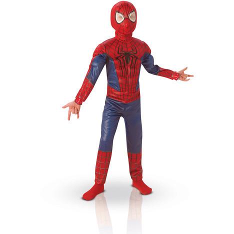 Panoplie garçon Spiderman Amazing 2 luxe - Boîte vitrine