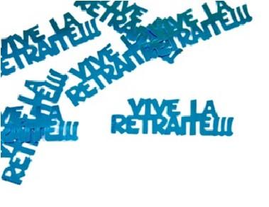 """Confettis de table """"Vive La Retraite"""" - turquoise"""