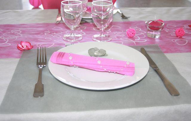 Sets de table rectangulaires intiss s x50 gris set de - Set de table gris ...