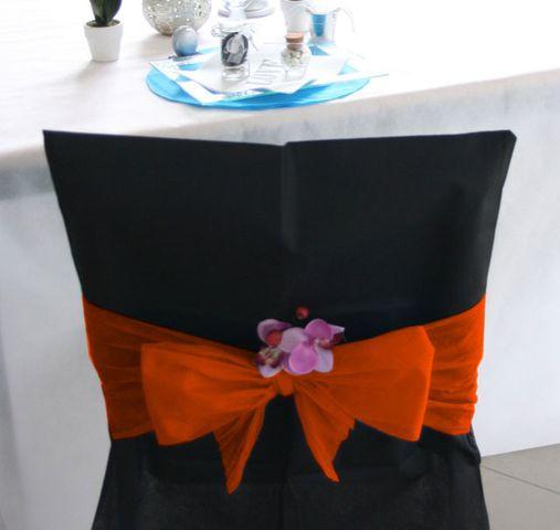 Noeuds pour 10 housses de chaise - orange