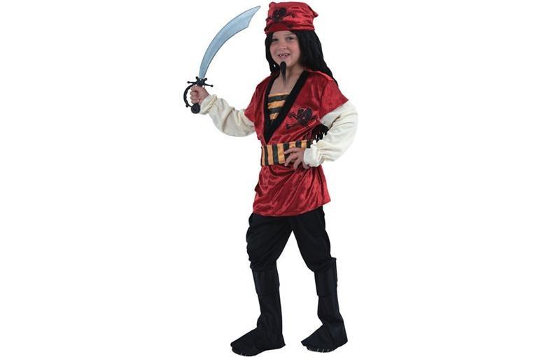 Déguisement garçon Pirate - rouge