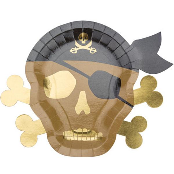 Assiettes pirate kraft