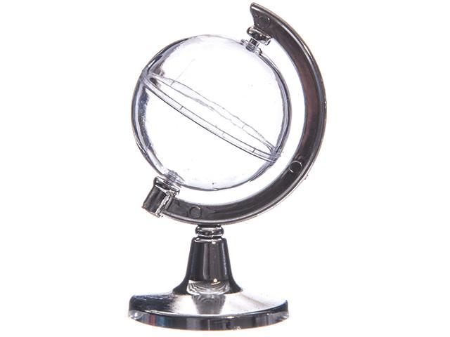 Contenant dragées globe terrestre x2 - 11 cm