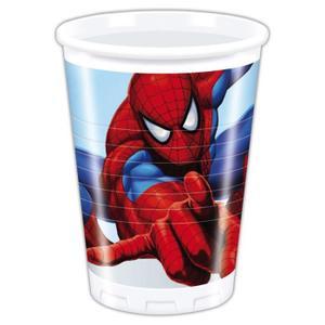 8 gobelets en plastique Spiderman 4 pas chers