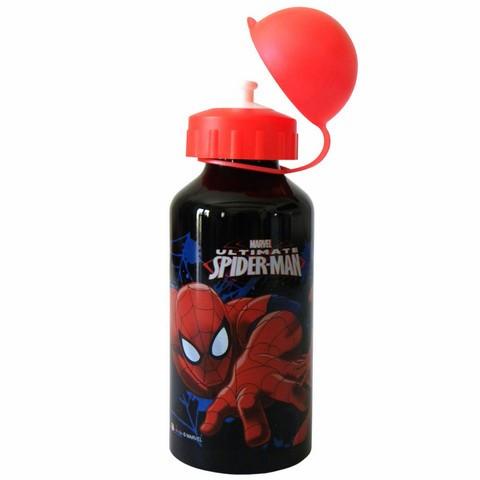 Gourde aluminium Spiderman - noire