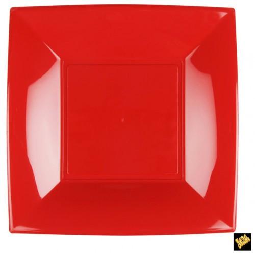 grande assiette carré rouge
