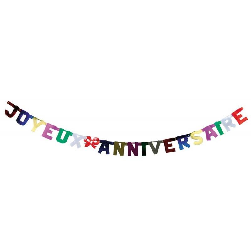Guirlande lettre joyeux anniversaire métal