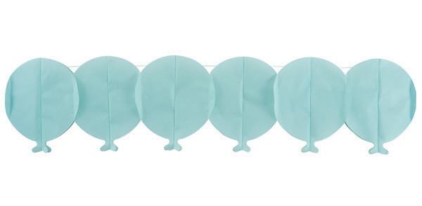 Guirlande papier ballon - bleu - 15 cm x 3 m