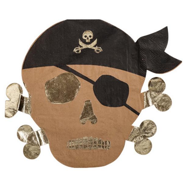 Serviettes pirates en papier