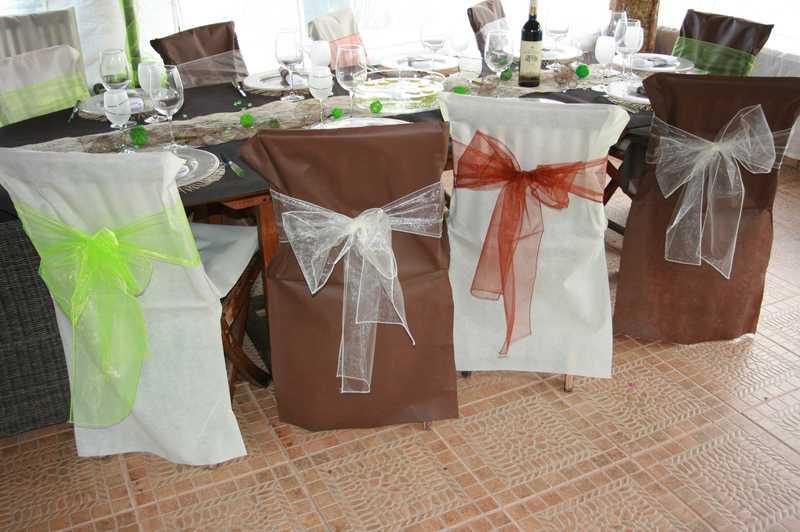 Noeuds en organza pour housses de chaises x10 d co - Housses pour chaises ...