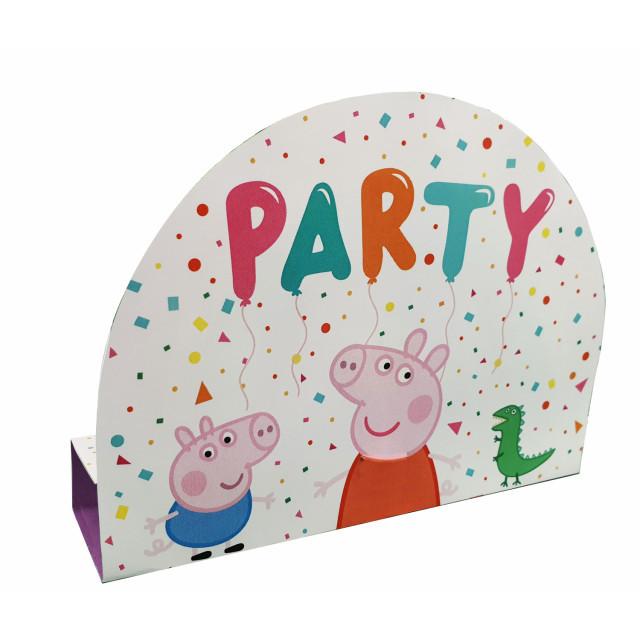 Lot de 8 Invitations Peppa Pig