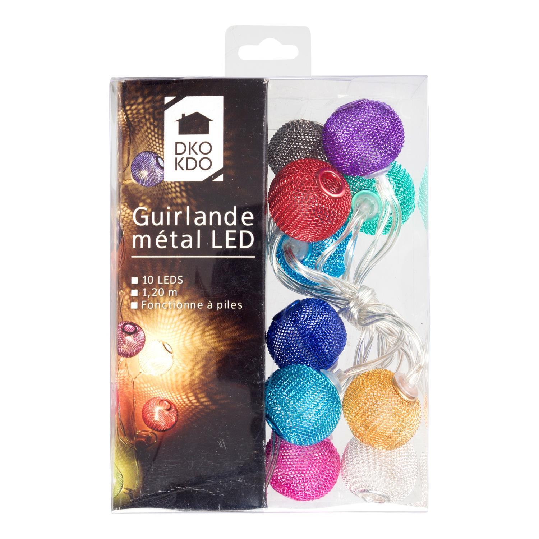 Guirlande métal 10 LEDS - 1.20 m