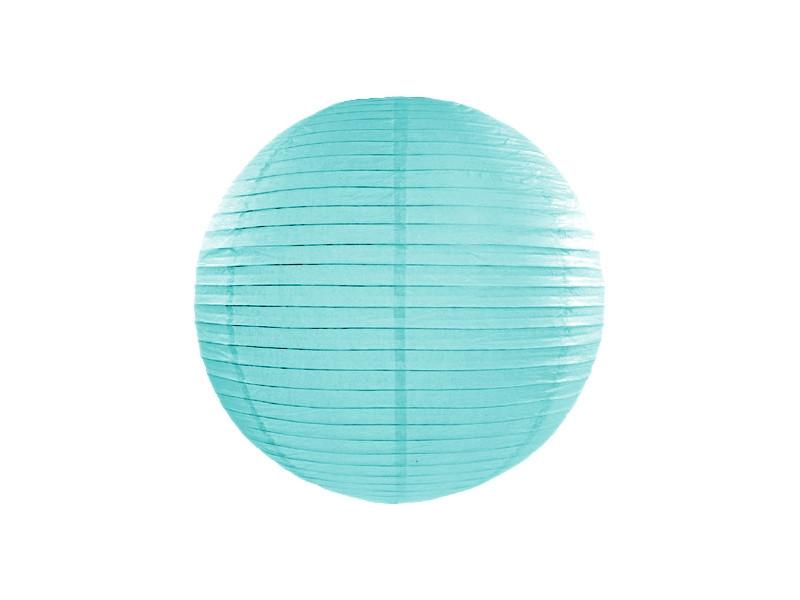 Lanterne bleu tiffany - 25 cm
