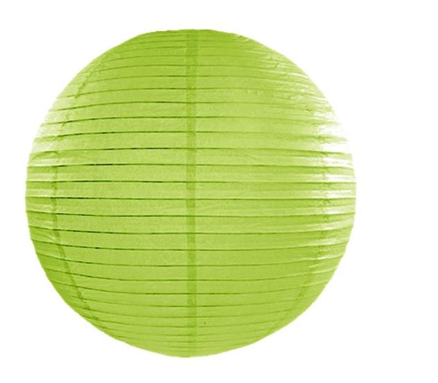 Lampion mariage vert anis 45 cm