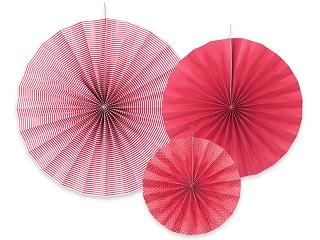 3 rosaces décoratives - framboise