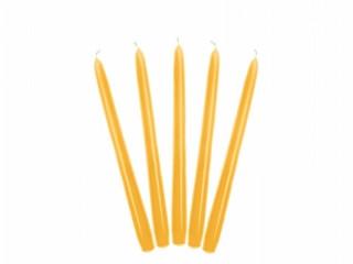 10 Bougies flambeau 24 cm - jaune