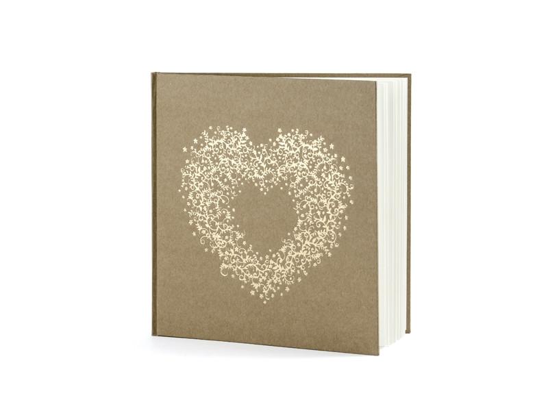 Livre mariage kraft et coeur or