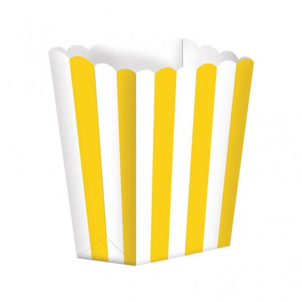 Lot 5 cornets pop corn - candy bar jaune