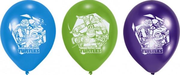 Lot de 6 ballons anniversaire Tortues Ninja