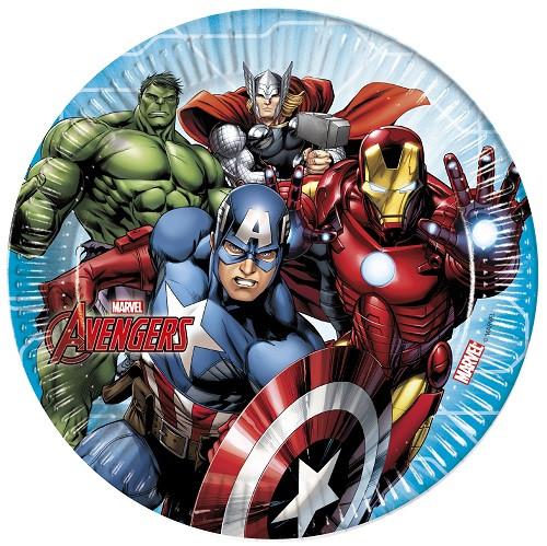 8 Assiettes Avengers - 23 cm