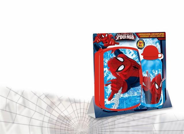 Set boîte à goûter et gourde Spiderman