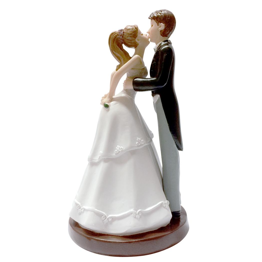 Figurine mariés bisou