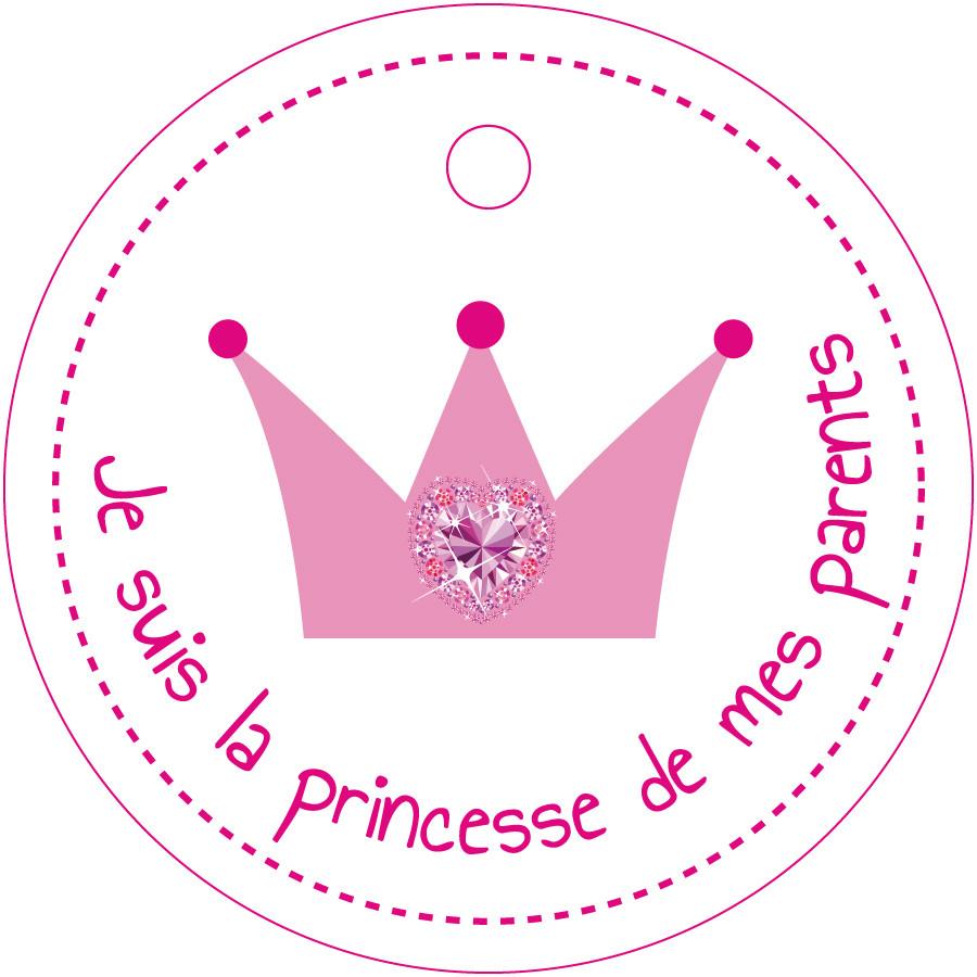 Nominette couronne princesse nos tiquettes pour la table prix canon - Etiquette plan de table ...