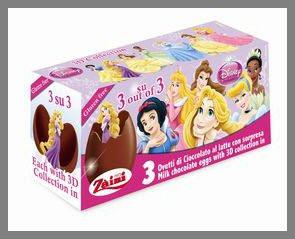 Oeuf surprise en chocolat - Princesses Disney - x3