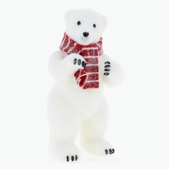 ... 13 x 15 x 30 cm. Ours polaire debout avec écharpe pas cher. More View. Ours  polaire debout avec écharpe pas cher ec7da88845b