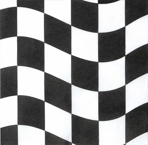 18 serviettes racing