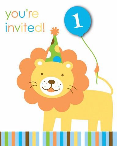 Anniversaire 1 an garçon - Thème animaux - Invitation à prix tout petit