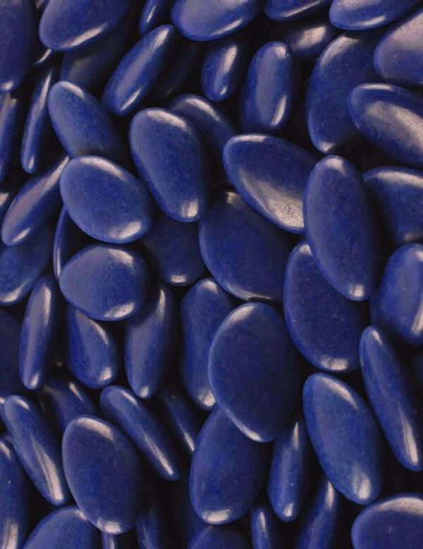 Dragées Pecou chocolat bleu marine