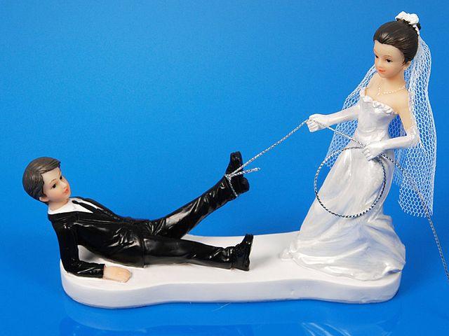 Couple de mariés au lasso