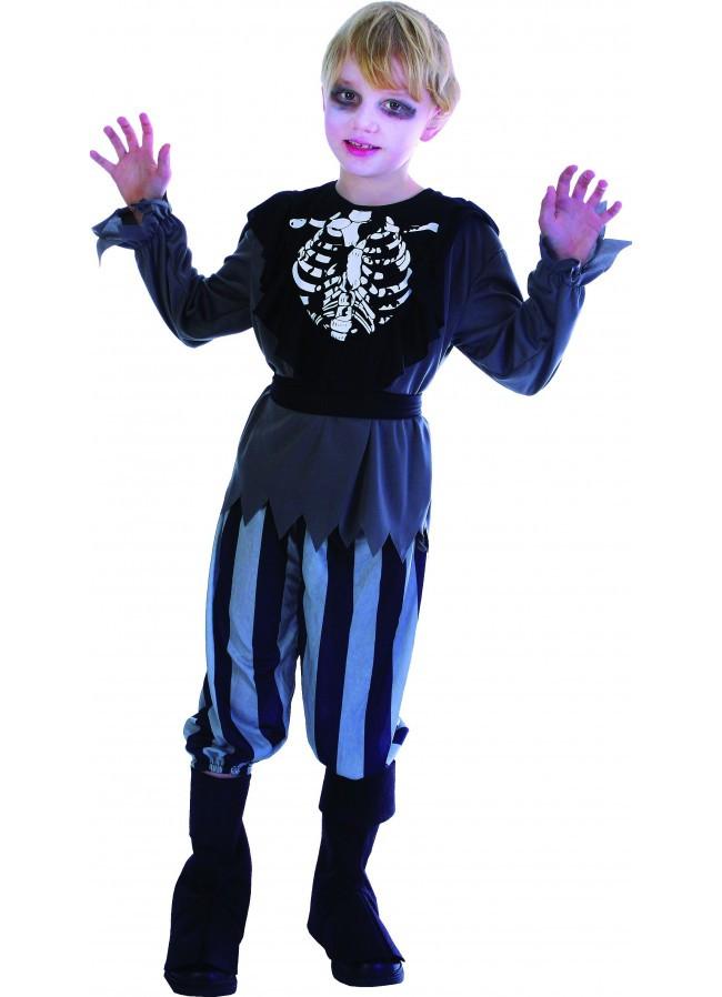 d guisement enfant pirate squelette taille 9 11 ans. Black Bedroom Furniture Sets. Home Design Ideas