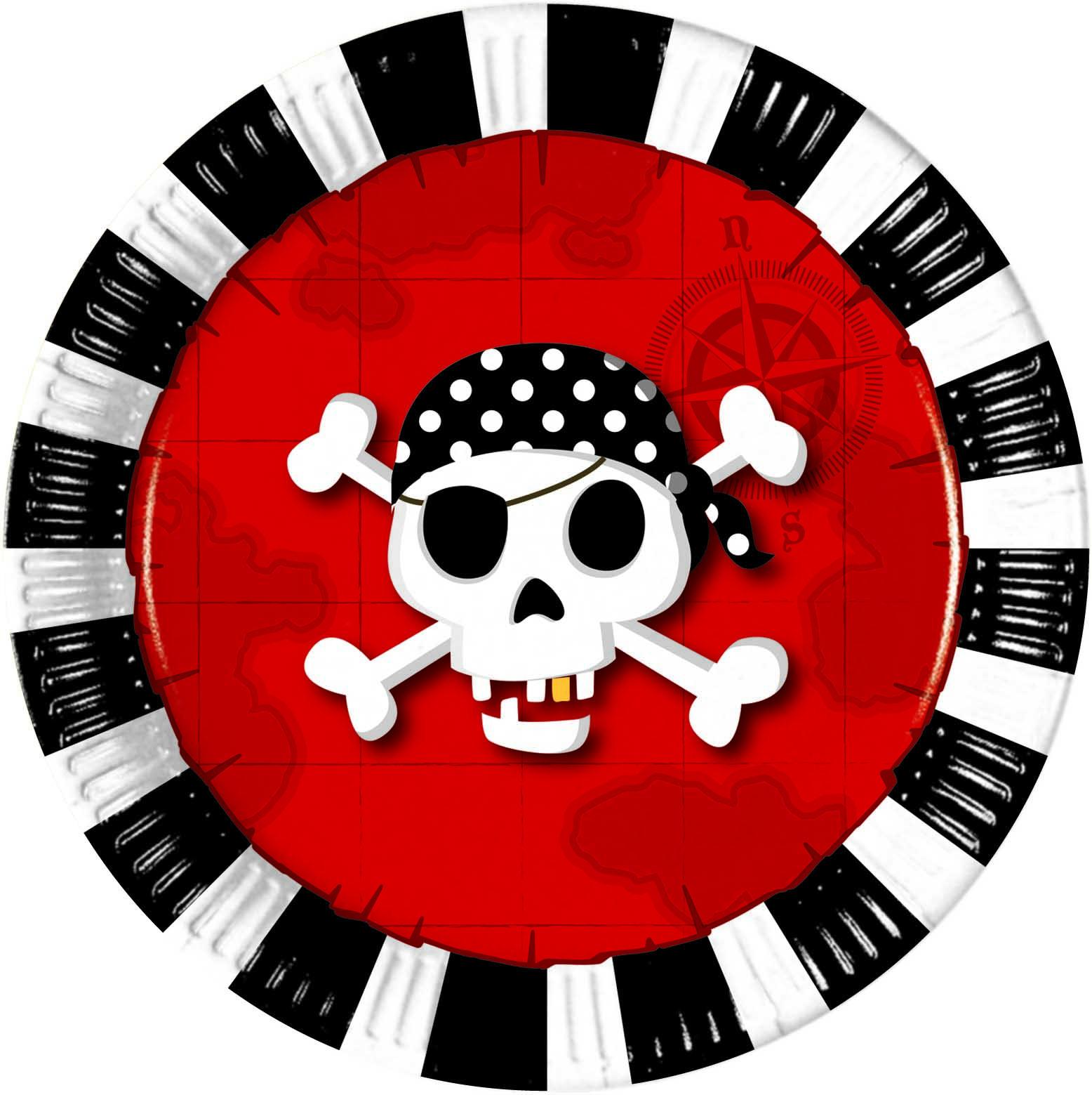 6 assiettes Pirate's Comeback - 20 cm
