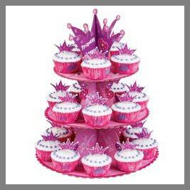 Présentoir à cupcakes - Thème Princesse