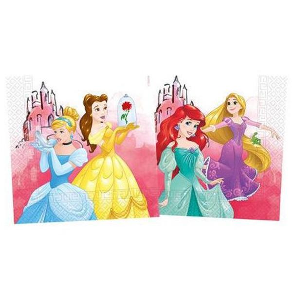 20 Serviettes Princesses Disney compost