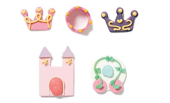 Paquet de 6 sujets en sucre thème princesse