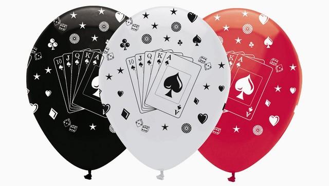 6 ballons jeu de cartes