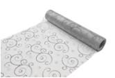 rouleau organza arabesque gris