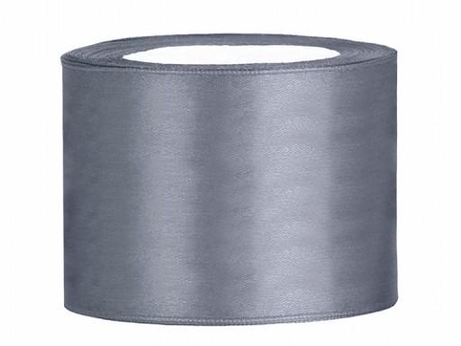 Ruban satin 50 mm gris